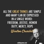 Palavras do autor,  ex-Premier da Inglaterra